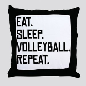 Eat Sleep Volleyball Repeat Throw Pillow