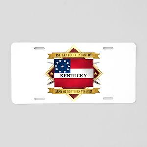 1st Kentucky Infantry Aluminum License Plate