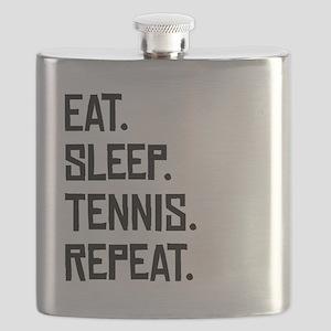 Eat Sleep Tennis Repeat Flask