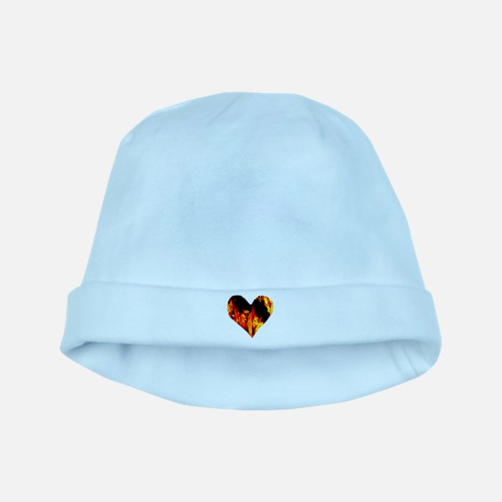 Red Yellow Orange Heart 'a Flame baby hat