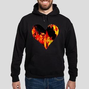 Red Yellow Orange Heart 'a Flame Hoodie (dark)