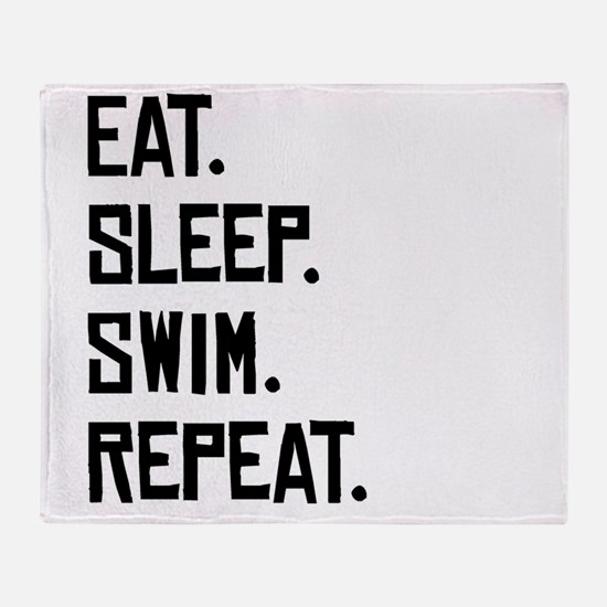Eat Sleep Swim Repeat Throw Blanket