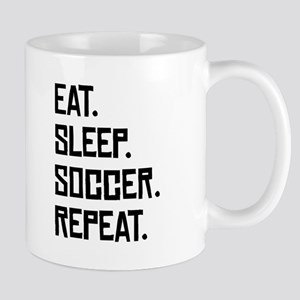 Eat Sleep Soccer Repeat Mugs