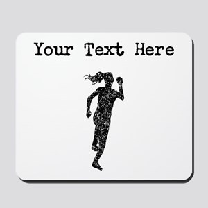 Distressed Runner Silhouette (Custom) Mousepad