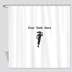 Distressed Runner Silhouette (Custom) Shower Curta