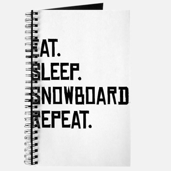 Eat Sleep Snowboard Repeat Journal