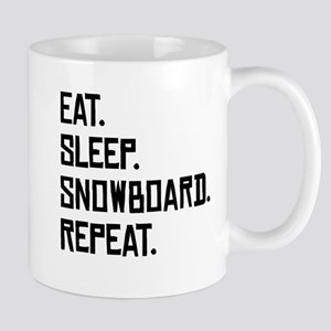 Eat Sleep Snowboard Repeat Mugs