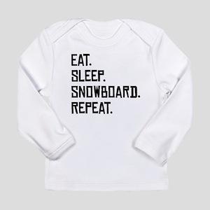 Eat Sleep Snowboard Repeat Long Sleeve T-Shirt