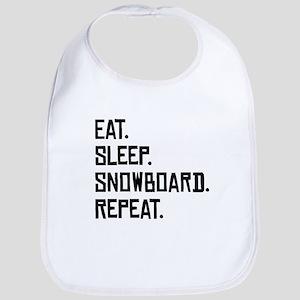 Eat Sleep Snowboard Repeat Bib