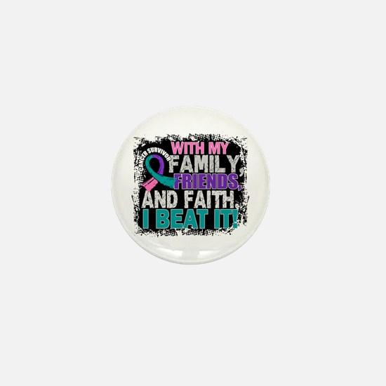 Thyroid Cancer Survivor FamilyFriendsF Mini Button