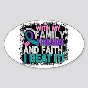 Thyroid Cancer Survivor FamilyFrien Sticker (Oval)