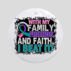 Thyroid Cancer Survivor FamilyFri Ornament (Round)