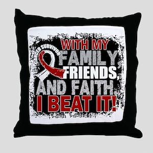 Throat Cancer Survivor FamilyFriendsF Throw Pillow