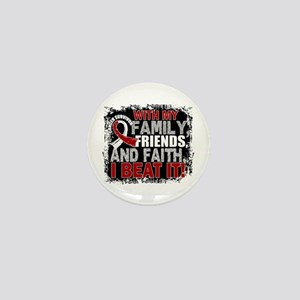 Throat Cancer Survivor FamilyFriendsFa Mini Button