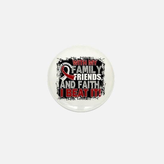 Throat Cancer Survivor FamilyFriendsFa Mini Button