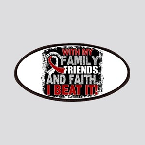 Throat Cancer Survivor FamilyFriendsFaith Patch