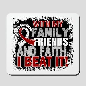 Throat Cancer Survivor FamilyFriendsFait Mousepad