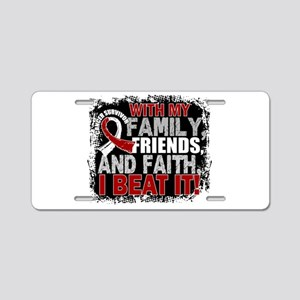 Throat Cancer Survivor Fami Aluminum License Plate