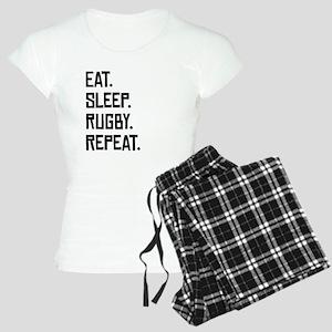 Eat Sleep Rugby Repeat Pajamas