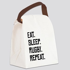 Eat Sleep Rugby Repeat Canvas Lunch Bag