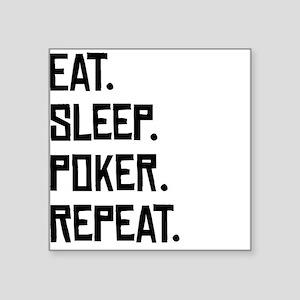 Eat Sleep Poker Repeat Sticker