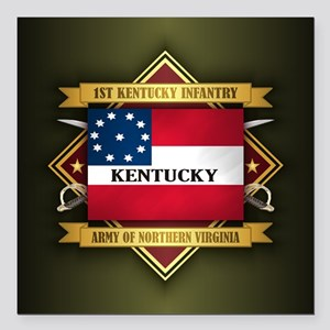 """1st Kentucky Infantry Square Car Magnet 3"""" x 3"""""""