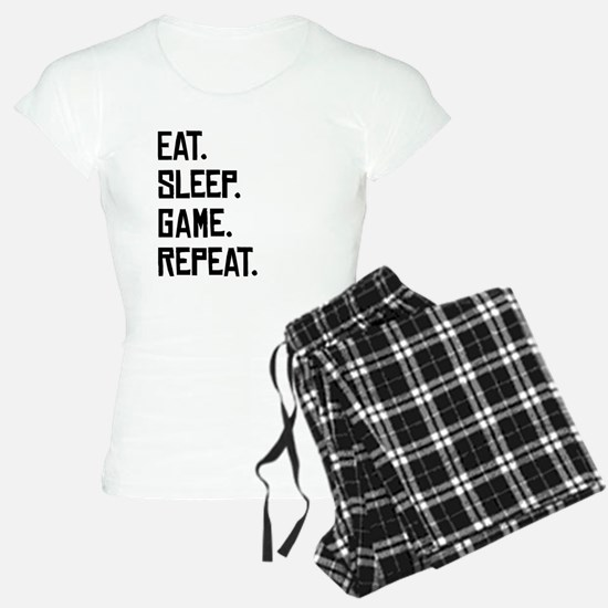 Eat Sleep Game Repeat Pajamas