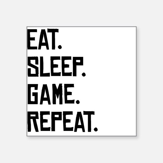 Eat Sleep Game Repeat Sticker