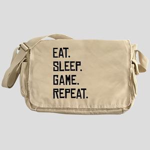 Eat Sleep Game Repeat Messenger Bag