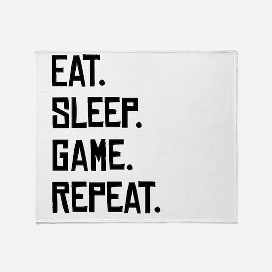 Eat Sleep Game Repeat Throw Blanket