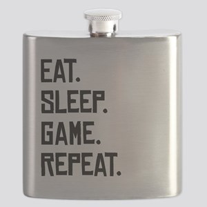 Eat Sleep Game Repeat Flask