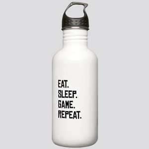 Eat Sleep Game Repeat Water Bottle