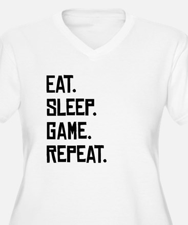 Eat Sleep Game Repeat Plus Size T-Shirt