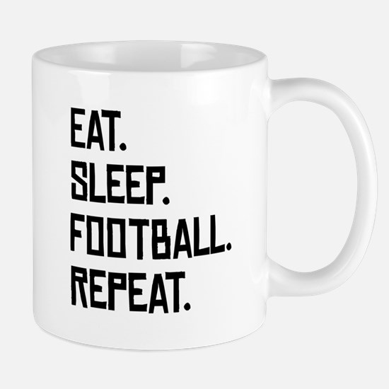 Eat Sleep Football Repeat Mugs