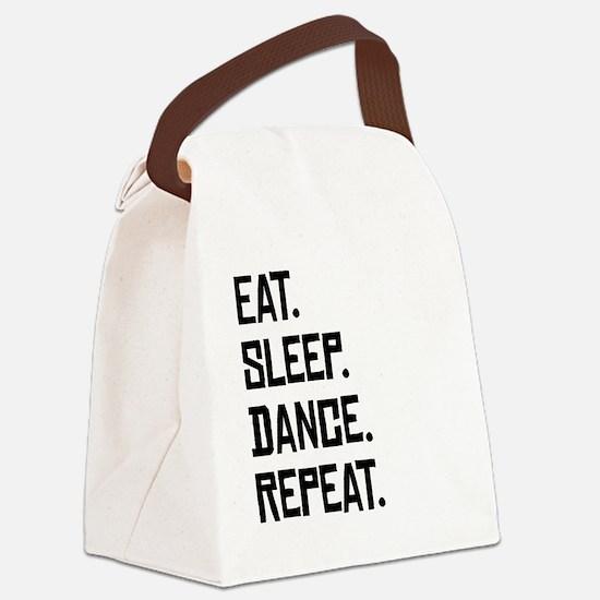 Eat Sleep Dance Repeat Canvas Lunch Bag