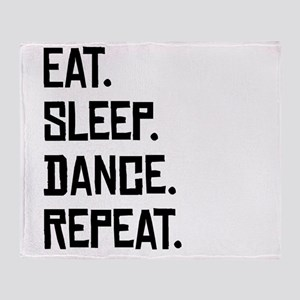 Eat Sleep Dance Repeat Throw Blanket