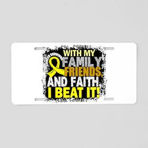 Sarcoma Survivor FamilyFrie Aluminum License Plate