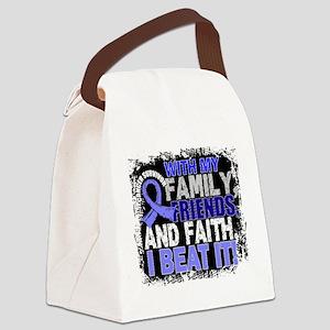 Prostate Cancer Survivor FamilyFr Canvas Lunch Bag
