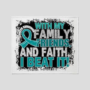 Peritoneal Cancer Survivor FamilyFri Throw Blanket