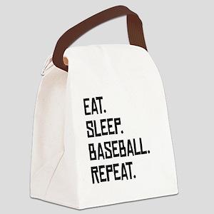 Eat Sleep Baseball Repeat Canvas Lunch Bag