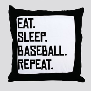 Eat Sleep Baseball Repeat Throw Pillow