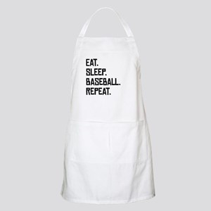 Eat Sleep Baseball Repeat Apron