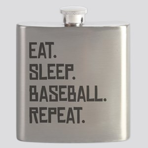 Eat Sleep Baseball Repeat Flask