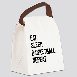 Eat Sleep Basketball Repeat Canvas Lunch Bag