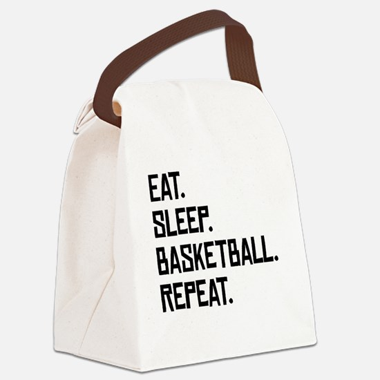 Eat Sleep Basketball Repeat Canvas Lunch Bag