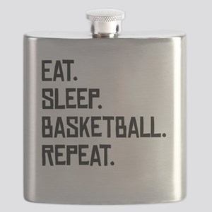 Eat Sleep Basketball Repeat Flask