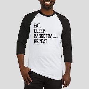 Eat Sleep Basketball Repeat Baseball Jersey