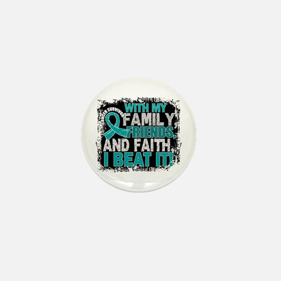 Ovarian Cancer Survivor FamilyFriendsF Mini Button