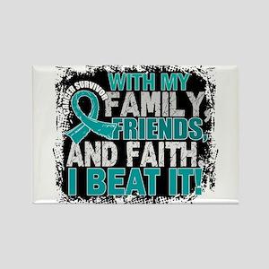 Ovarian Cancer Survivor FamilyFri Rectangle Magnet