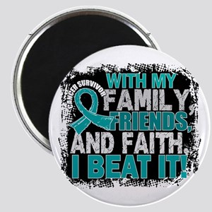 Ovarian Cancer Survivor FamilyFriendsFaith Magnet